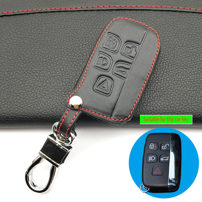 High quality new design style leather car key cover case for Land <font><b>Rover</b></font> a9 <font><b>range</b></font> <font><b>rover</b></font> freelander <font><b>Evoque</b></font> discovery <font><b>keychain</b></font> HOT image