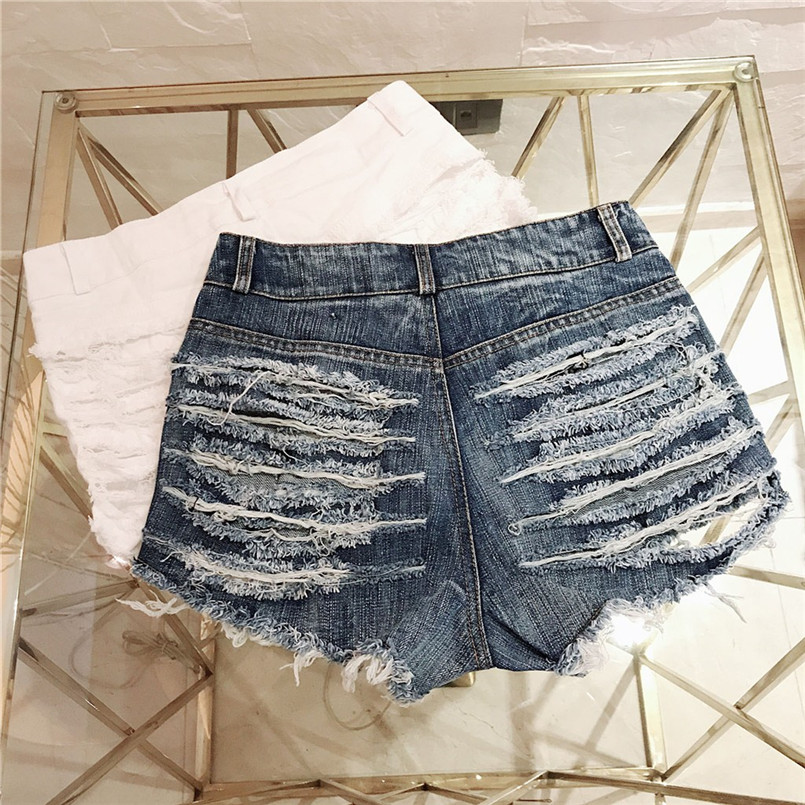 Hot New Style Summer Sexy Women Cool Hole Denim Jeans Fashion Hole Pockets Mini Shorts Jean For Women Girls 40MA07 (22)