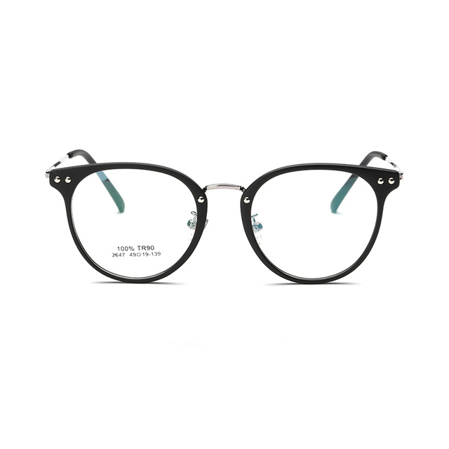 Brand computer eyeglasses metal leg Fashion Vintage optical eyewear frame men 2017 New Arrival prescription eyewear women 2647