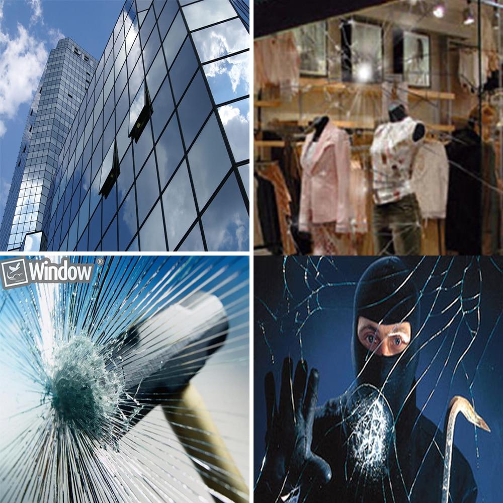 0.5X6M Säkerhetssäkerhetsfönster Filmskydd Glasskydd Anti Shatter - Exteriör biltillbehör - Foto 6