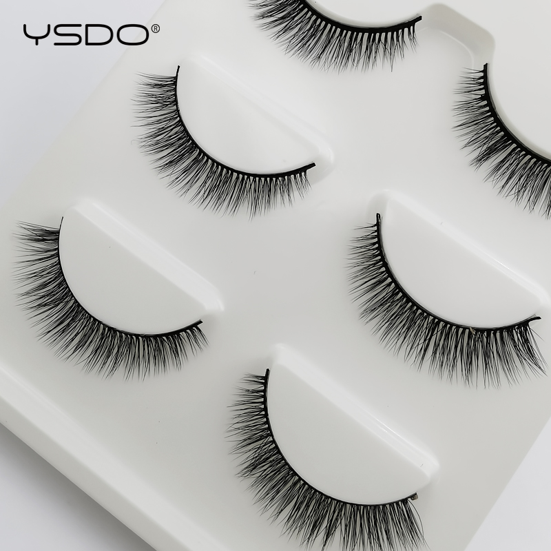 YSDO 3 Pairs 3d Mink Lashes Hand Made False Eyelashes Makeup Mink Strip Lashes Mink Eyelashes Natural Lashes Dramatic Eyelashes