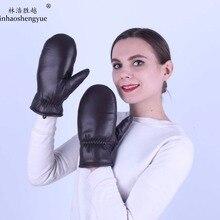 Linhaoshengyue real fur gloves women and men natural sheepsk