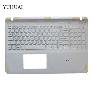 Image 2 - Russian keyboard FOR SONY VAIO SVF152 FIT15 SVF15 SVF153 SVF15E White/black RU Laptop C Shell palmrest cover