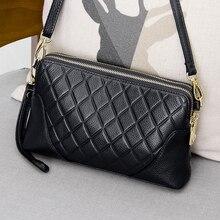 Genuine Leather Small Messenger Bags Crossbody Bag Female Wr