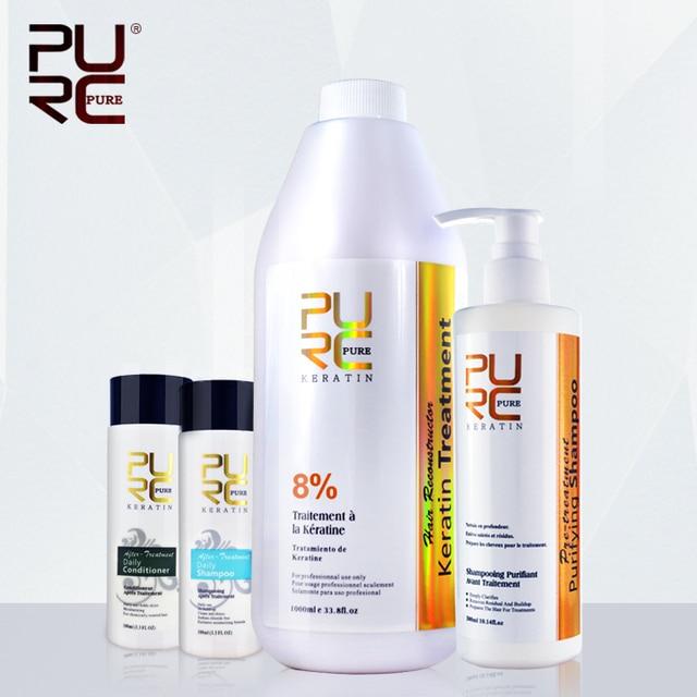 Brazilian keratin hair 1000ml 8% formalin and 300ml shampoo before hair straightening christmas gift wholesale hair care