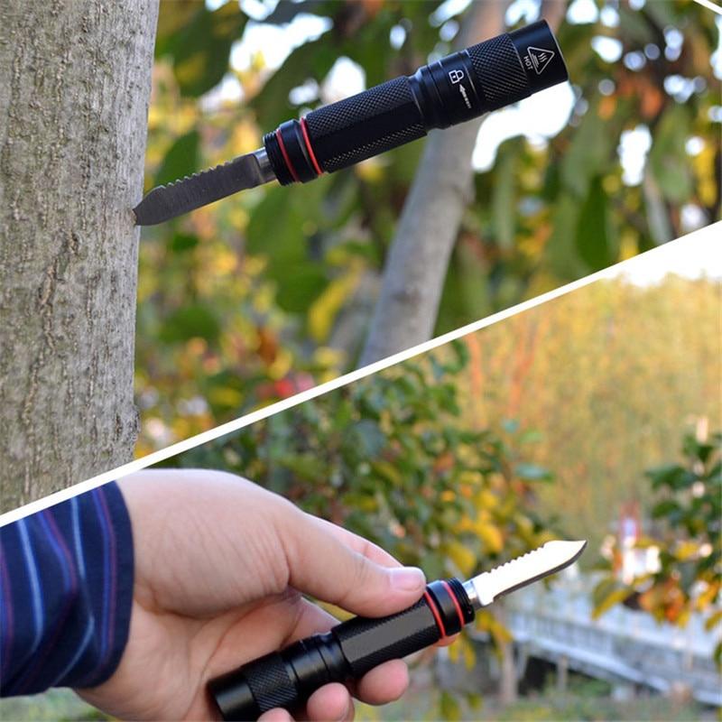 1 pc New Aluminum Alloy Waterproof Multifunction Self Defense Tactical Auto Glass Breaker Tool+Light