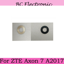 Original Gold For ZTE Axon 7 Axon7 A2017 A 2017 Rear Back Big Camera Glass Lens Cover with Adhesive Sticker Replacement Repair