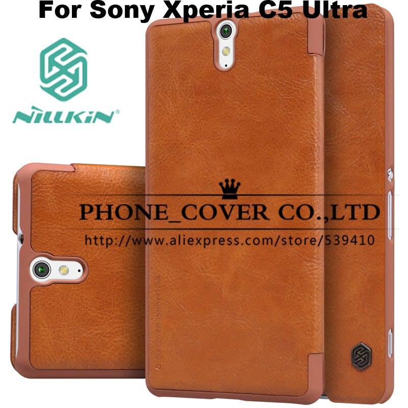 Nillkin Genuine Wallet Leather Case cover for Sony Xperia C5 Ultra E5506 E5563 E5533 E5553 6