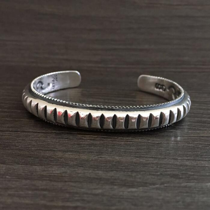 39.5g Solid Silver 925 Mens Bracelet Thick Band Gear Cuff Bangle Brief Design Real Sterling Silver 925 Mens Jewelry Top Quality39.5g Solid Silver 925 Mens Bracelet Thick Band Gear Cuff Bangle Brief Design Real Sterling Silver 925 Mens Jewelry Top Quality