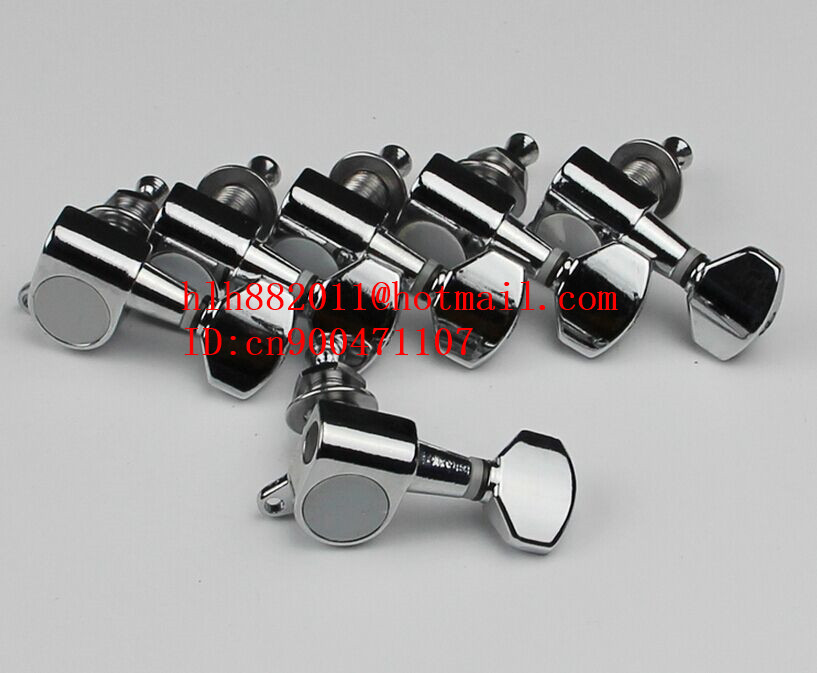 free shipping new right hand electric guitar chrome  tuning peg guitar button for one side of the guitar J-02  AR-18 цена и фото