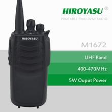 walkie Talkie HIROYASU M1672 UHF 400-470MHz 5Watts 16Channels Portable Two-Way Radio
