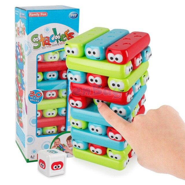Góra Wieża Jenga Gra Z Dyszlem Układania Plastikowe Klocki Dla Dzieci UA07