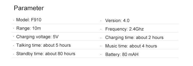 Fineblue F910 Retractable Bluetooth Earphone Business Lavalier Headphone Voice Prompts Call Vibration