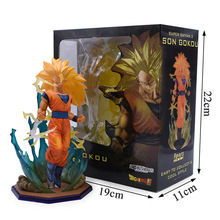 Dragon Ball Z Action Figure Zero Super Saiyan Son Gokou Battle Ver. PVC Toy Dragonball Z Vegeta Goku Trunks Collectible Figure цена