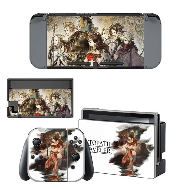 Nintend Switch Vinyl Skins Sticker For Nintendo Switch Console and Controller Skin Set - Octopath Traveler 5