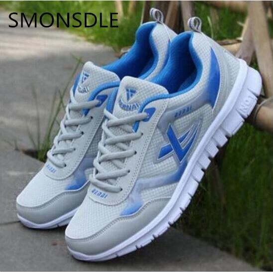 SMONSDLE 2018 Men Lightweight sneakers superstar Shoes Comfot Lace-up arrival Outdoor man causal Shoes plus size tenis feminino ...