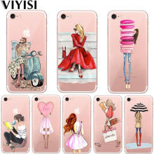 VIYISI For Apple iPhone X 7 8 6 6S Plus Cover 5 5S SE Phone Case Personality Girl Summer Soft Silicone Back Coque Shell Capas
