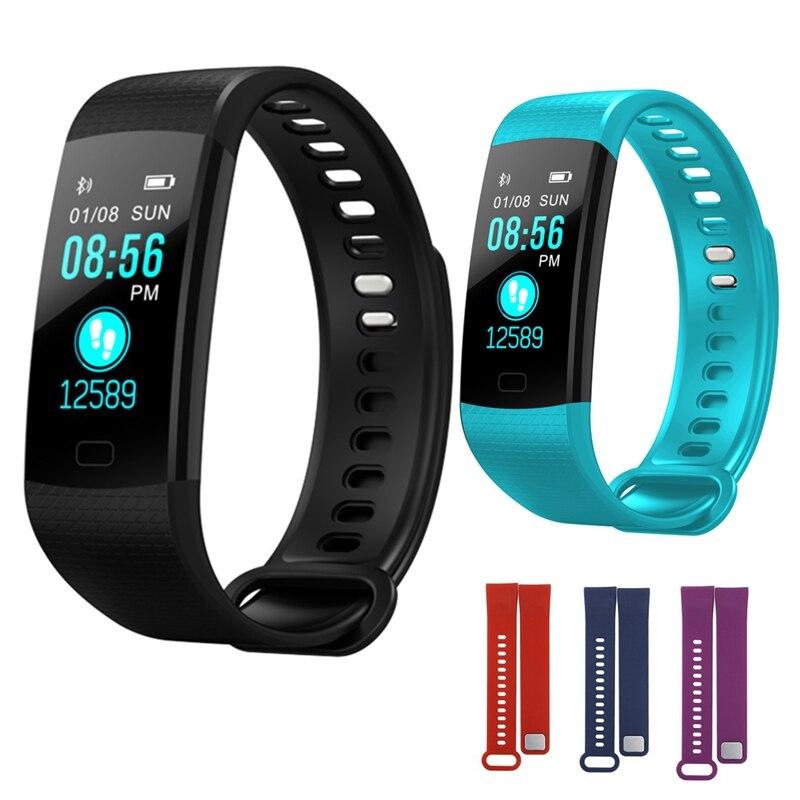 Y5 banda inteligente reloj pulsera de fitness inteligente muñequera, Color de pantalla de actividad Fitness tracker inteligente electrónica pulsera