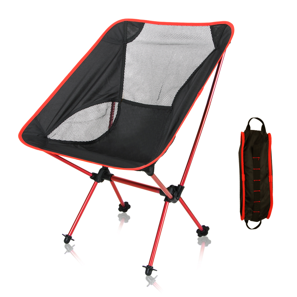 Foldable Outdoor Camping Fishing Chair with storage Bag Backpack Portable Collapsible Moon Chair Fishing Camping Hiking Seat