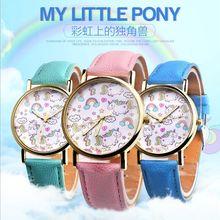 NEW Children Watch Unicorn Leather Strap Analog Dial Quartz Watches