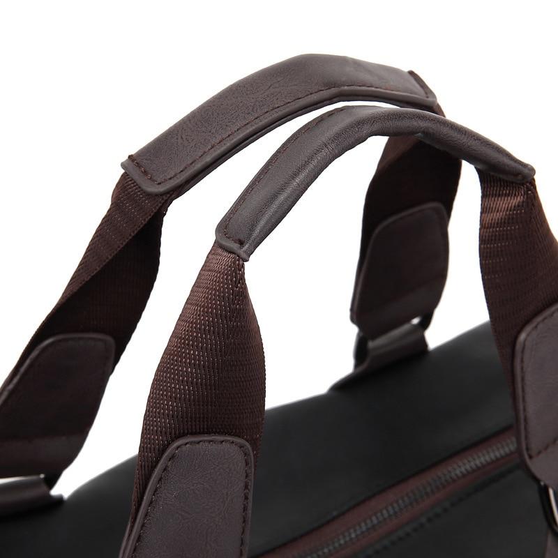 New Large Capacity Nylon Travel Bag Men Hand Luggage Travel Duffel Bag Casual Multifunctional PU Leather Shoulder Travel Bags 5