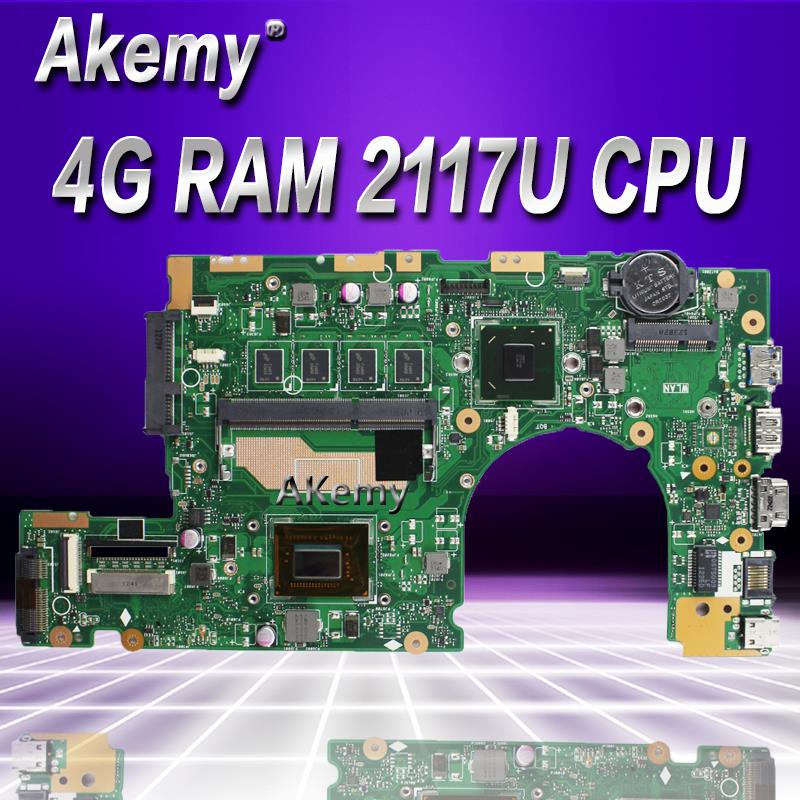 Akemy S400CA Laptop motherboard for ASUS S400CA S500CA S400C S500C S400 S500 Test original mainboard 4G RAM 2117U CPU|Motherboards| |  - title=