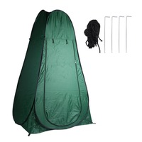 Portable Pop Up Outdoor Toilet Shower Beach Camping Hiking Tent Large Windproof Dressing Changing Room Army Green