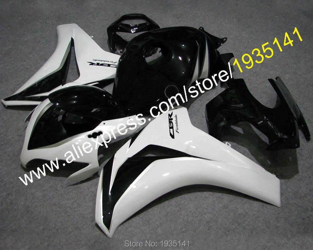 Ventas calientes, CBR1000 RR 08 09 10 11 blanco negro kit para Honda CBR 1000RR 2008 2009 2010 2011 kit de carenado de motor (inyección)