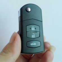 3 BUTTON Remote Folding Flip Key Shell Case Fob PAD FOR MAZDA 2 3 5 6 RX8 MX5 Battery CR1620