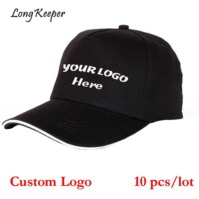 Long Keeper High Quality Custom Logo Hats Golf Baseball Cap Snapback Outdoor Casual Solid Boys Girls