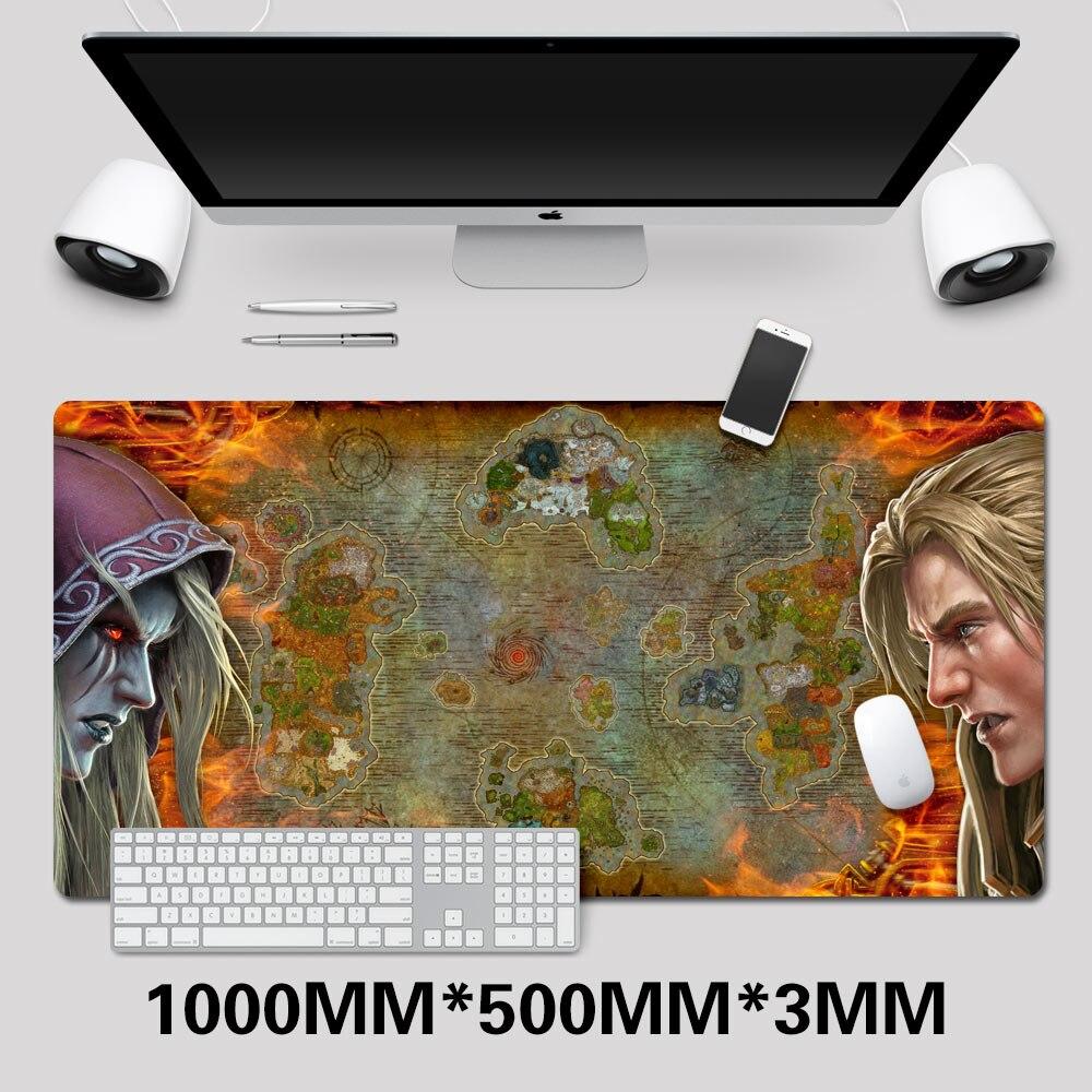 WOW tapis de souris de jeu monde de Warcraft tapis de souris grande mode tapis de souris pour Gamer ordinateur portable tapis de cahier en caoutchouc wow carte tapis de souris