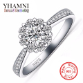 Big Promotion 100% Real 925 Silver Wedding Rings for Women Fashion Flower CZ Diamond Engagement Ring New Jewelry Wholesale AR000