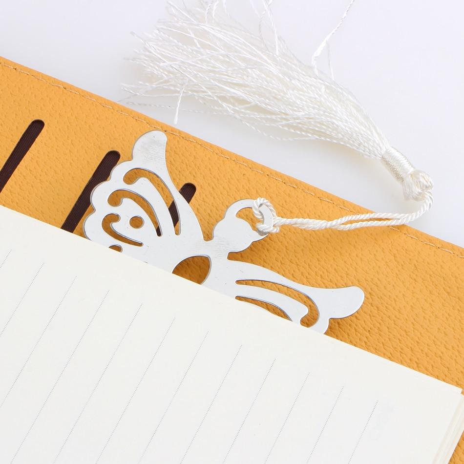 Best Price Metal Bookmark White Ribbon Tassel Angel Bookmark Wedding ...