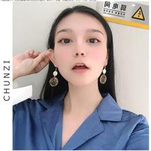 Korean New personality exquisite Chinese style purple flower and bird circle super fairy earring for women