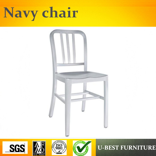 Free Shipping U BEST Garden Outdoor Furniture Stackable Plastic Emeco Navy  Chair, Industrial Cafe