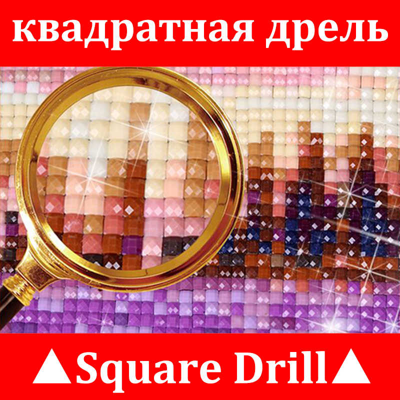Full drill diamond embroidery 3d diamond cross stitch fashion diamond mosaic pictures of rhinestones Building and Castle XU
