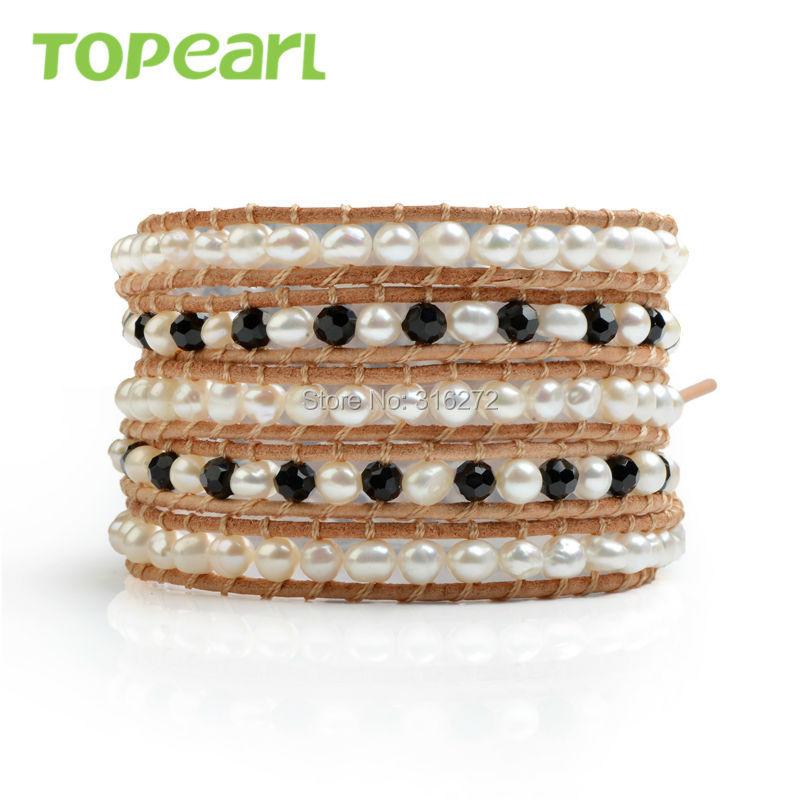 0a9a250d0314 Joyería Topearl 3 unids perlas de agua dulce blanco Mix negro ...