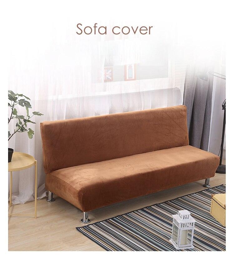 sofá de estúdio longo sofá cama capas