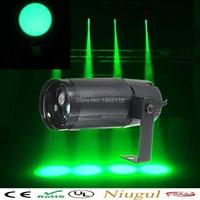 Free Shipping Total 5W LED Green Beam Pinspot Light Spotlight Super Bright Lamp Mirror Balls Disco