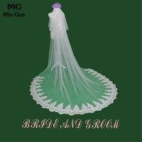 2018 Cathedral Wedding Veils 300*300cm 2 Layers Special Lace Appliques Edge Bridal Veil Wedding Accessories Bride Wedding Veil