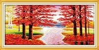 Maples Iyi Şans Getirmek Desenler Sayılan Çapraz Dikiş 11CT 14CT Çapraz Dikiş Seti Toptan Çapraz dikiş Kiti Nakış İğne