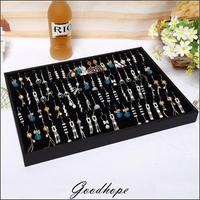 Portable Earring Display Organizer Black Velvet Showing Tray Earrings Holder Storage Boxes Jewelry Showcase Boucles Organizer