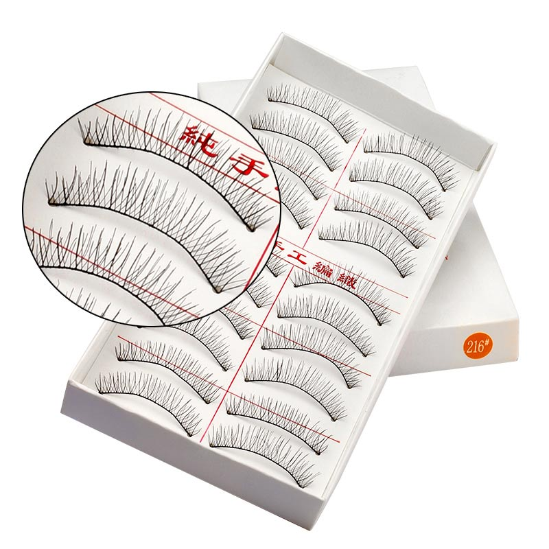 10 Pairs Of False Eyelashes Makeup Handmade Natural Eye Lash Extension Fake Lashes Soft False Eyelash Long 216