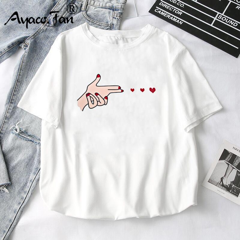 T-shirty damskie 2019 lato nowe śliczne zwierzęce dziewczyny wydrukowane bluzki Tee t-shirt damski biały t-shirt dla pani top na co dzień 1