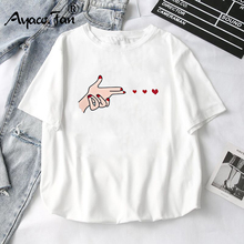 Women T-Shirts 2019 Summer New Cute Animal Girls Printed Tops Tee Female T-shirt Short Sleeve White