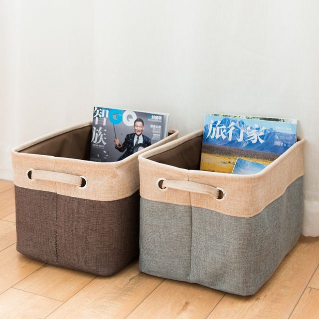 Thick Clothing Toy Books Foldable Storage Collapsible Fabric Foldable Storage  Cube Basket Larry Desktop Canvas Storage