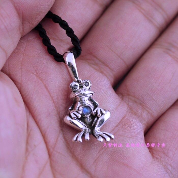 925 pure silver three-dimensional frog silver pendants цена 2017