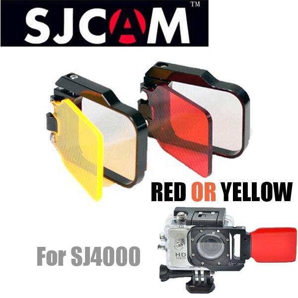Prix pour NOUVEAU Haute Qualité SJCAM SJ4000 Accessoires Lctech TM SJ4000 Rouge filtre len Pour SJ 4000 sj6000 WiFi Plongée Boîtier étanche cas
