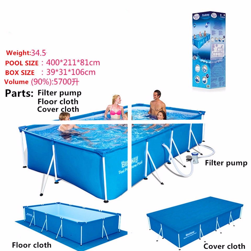 Feel so good super large swimming pool for whole family - Swimming pool accessories for adults ...