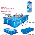 Feel So Good Super Large Swimming Pool For Whole Family Size:4M*2M*0.8M Ground Frame Pool Floats For Adults No Inflatable Pool
